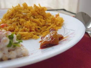 Пикантен ориз с кокос