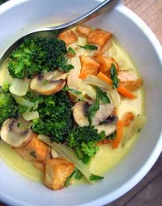 Кокосова къри супа