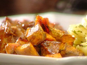 Печени сладки картофи с мед