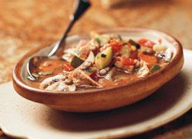 Италианска пилешка супа с леща