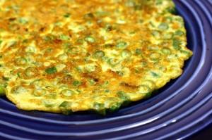 Омлет със зелен френски фасул