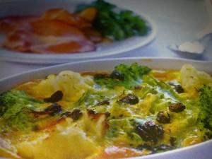 Суфле с броколи и карфиол