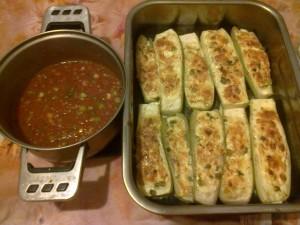 Доматен сос със Пълнени тиквички